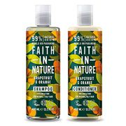 Faith in Nature Shampoo with Conditioner, 400 Ml, Grapefruit and Orange