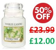 Yankee Candle - Linden Tree - Large Jar Candle - HALF PRICE in the SALE