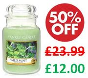 Yankee Candle Large Jar - WILD MINT - 1/2 PRICE in the SALE
