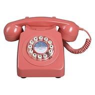 Wild & Wolf Retro 746 Telephone | Burnt Terracotta | Uses Standard Phone Socket