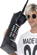 30-Inch Inflatable Retro Mobile Phone - Black