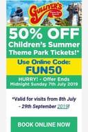 Gulliver's World Warrington - 50% off Childrens Summer Tickets