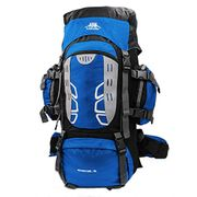 Mooedcoe 75L Large Hiking Backpack - Blue