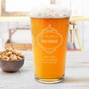 Personalised Pint Glass - Classic Badge