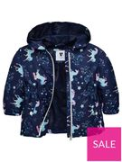 Mini V by Very Girls Unicorn Jersey Lined Mac - Multi at Very