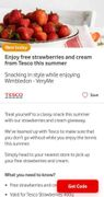 Free Strawberries 400g and Cream from Tesco with Vodafone VeryMe App