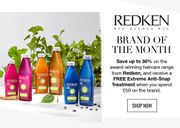 Lookfantastic - save up to 30% on Redken Haircare Range + Free Gift