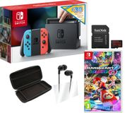 NINTENDO Switch Neon with £30 eShop Credit, Mario Kart 8 Deluxe Bundle