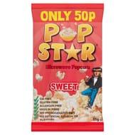 Pop Star Microwave Popcorn - Sweet or Salted 4 Packs