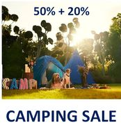 Camping Sale - 50% off + 20% Off