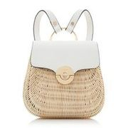 Small Wicker Basket Rucksack
