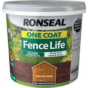 Ronseal One Coat Fence Life Exterior Wood Paint 5L Half Price