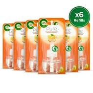 Air Wick Air Freshener Pure Mediterranean Sun, Refill 19 Ml, Pack of 6
