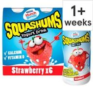 Munch Bunch Squashum Strawberry Yogurt Drink 6 X90g