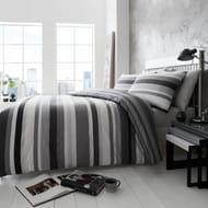 Stripe King Bedding Black Grey White £14