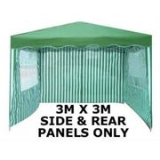 3x3m Panels 3 Piece for Gazebo Green