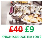 Afternoon Tea for 2, CENTRAL LONDON. NOT £40. NOT £19. ONLY £9 WITH CODE!