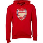 Puma Mens AFC Arsenal Royal Crest Hoodie High Risk Red