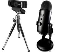 LOGITECH Full HD Webcam & Blue Yeti Professional USB Microphone Bundle