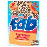 Fab Limited Edition Jammy Filled Lollies Raspberry Doughnut 6 X 58ml