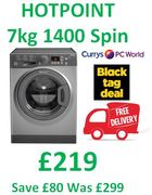 SAVE £80. HOTPOINT Smart 7kg 1400 Spin ***8.9 STARS*** FREE DELIVERY