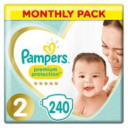 Pampers Size 2 - 240 Nappies!