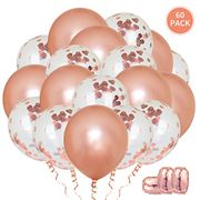 60pcs Rose Gold Balloons - Save Over 50%