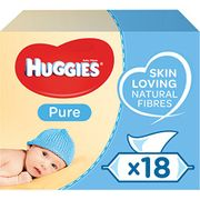 Huggies Pure Baby Wipes, 18 Packs (1008 Wipes) Down From £18 to £10.5