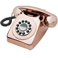 Retro Metalic Copper Telephone