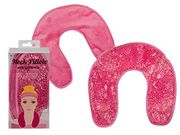 Pink Neck Pillow with Gel Beads for Cooling/heating Approx. 29 X 27 Cm, 10/5319
