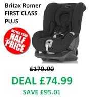 Britax Romer FIRST CLASS PLUS Car Seat - Birth to 4 years - *4.5 STARS*