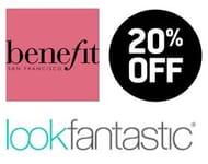20% off Benefit Cosmetics (Using Code) at Look Fantastic