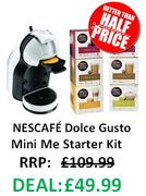 NESCAFE Dolce Gusto Mini Me Coffee Machine + 6 BOXES OF COFFEE PODS