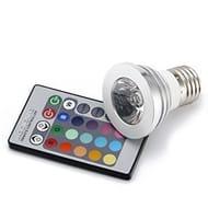 Multi-Color E27 LED Light Bulb with Remote Control