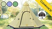 Teepee Tent in 3 Colours - Sleeps 6 People!