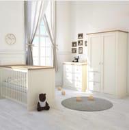 Little Acorns Sophia Nursery Set with 5inch Maxi Air Cool Mattress - Ivory/Oak