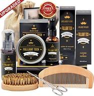 Beard Kit for Men Grooming /Beard Shampoo Oil Balm Comb Brush Scissor