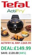 SAVE £120 - Tefal Actifry, Air Fryer, Genius XL, (8 Portions)