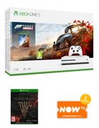 1TB XBOX ONE S with FORZA HORIZON 4+TESO: MORROWIND and NOW TV Only £249