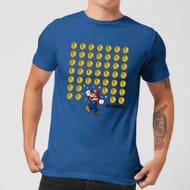 Nintendo Super Mario Coin Drop Men's Blue T-Shirt