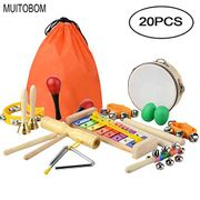 20 Pcs Toddler & Baby Musical Instruments Set Percussion Toy Fun