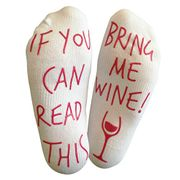 'If You Can Read This Bring Me Wine' Funny Socks for Wine Lover