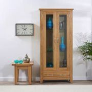 *SAVE £600* Cheadle 180cm Oak Display Cabinet