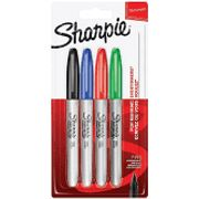 Sharpie Fine Tip Coloured Pen - Pack of 4