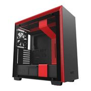 NZXT Red H700 Tempered Glass Window PC Gaming Case
