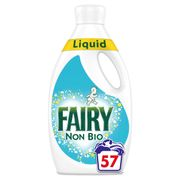 Fairy Non Biological Washing Liquid 1.995L 57 Washes