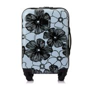 Tripp Ice Blue and Black 'Pansy Hard' 4 Wheel Cabin Case