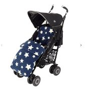 John Lewis & Partners Baby Multi Star Pushchair Footmuff, Navy