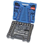 Kincrome Socket & Tool Set 166 Piece 1/4, 3/8 & 1/2 Inch Square Drive
