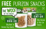 Free Dog or Cat Treats with Spend